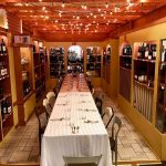Wine room dining