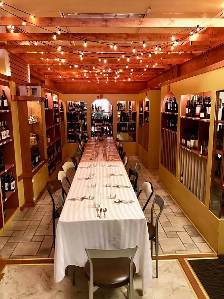 Wine room dining